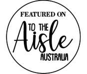 Congrats on your feature with To the Aisle Australia black on white